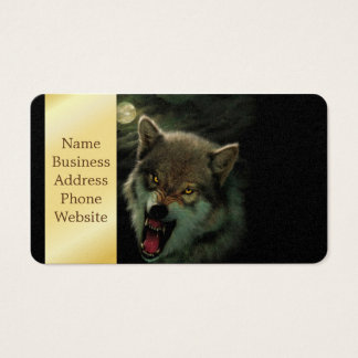 Wolf moon business card