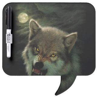 Wolf moon dry erase board