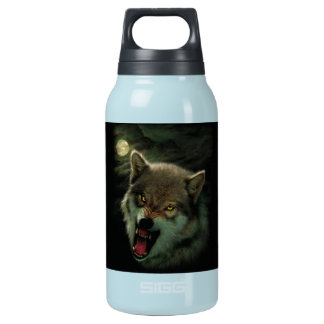 Wolf moon insulated water bottle