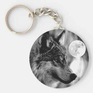 Wolf & Moon Key Chains