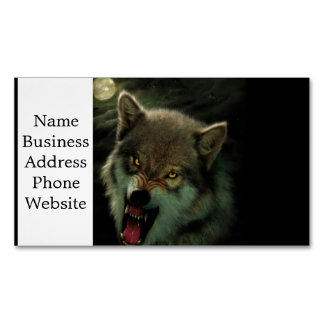Wolf moon 	Magnetic business card