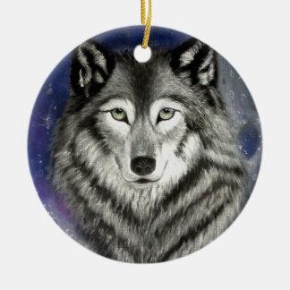 Wolf Moon Ornament