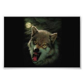 Wolf moon photo print