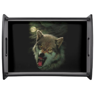 Wolf moon serving tray