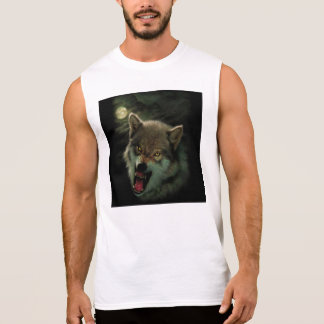 Wolf moon sleeveless shirt