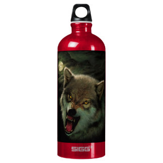 Wolf moon water bottle