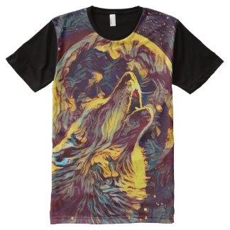 Wolf Moon Werewolf Howl Dark Horror Art All-Over Print T-Shirt