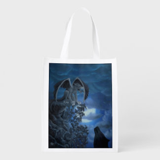 Wolf moon - Wolf with Golem Reusable Grocery Bag