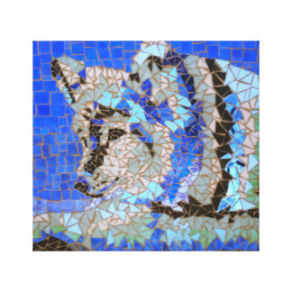 Wolf Mosaic Stretched Canvas Print