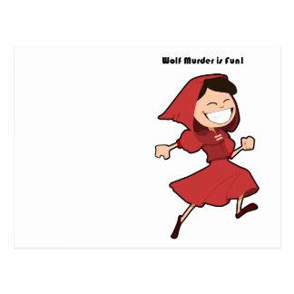 Wolf Murder Little Red Riding Hood Cartoon Postcard