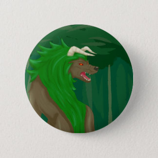 Wolf of the Forest 6 Cm Round Badge