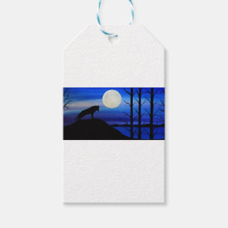 wolf on the mountain gift tags