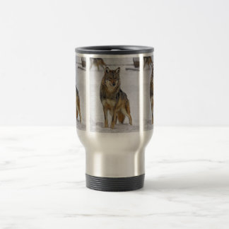 Wolf On Watch Travel Mug