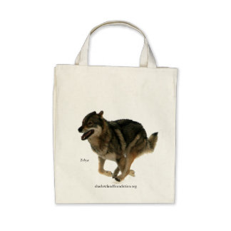 Wolf Organic Grocery Tote Tote Bag