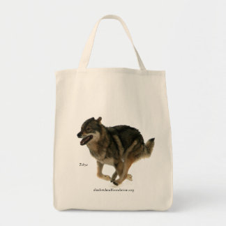 Wolf Organic Grocery Tote Grocery Tote Bag