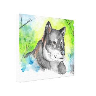 Wolf (Original) Canvas Print