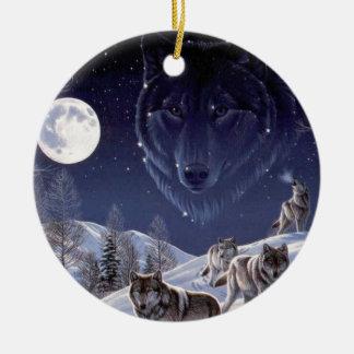 Wolf Pack Ceramic Ornament