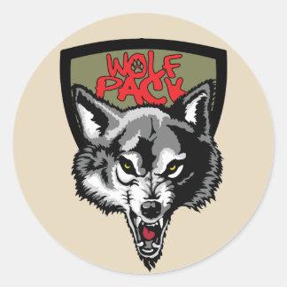 wolf pack classic round sticker