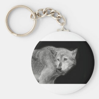 Wolf Pack Leader copy.jpg Basic Round Button Key Ring