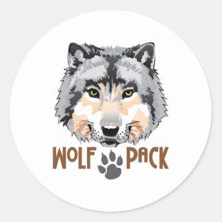 WOLF PACK ROUND STICKER
