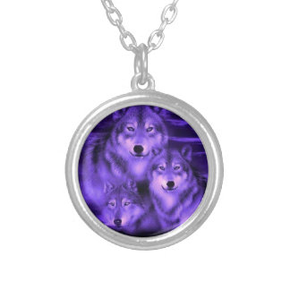 Wolf Pack Silver Plated Necklace