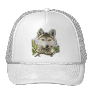 Wolf Painting with just face Cap