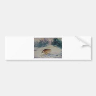Wolf Pastel Bumper Stickers