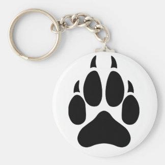 Wolf Paw Basic Round Button Key Ring