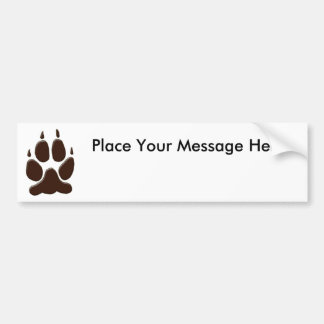 Wolf Paw Print Bumper Sticker