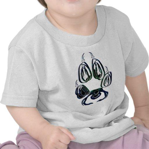 Wolf Paw Print Tee Shirts