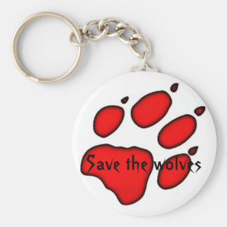 wolf paw, Save the wolves Key Ring