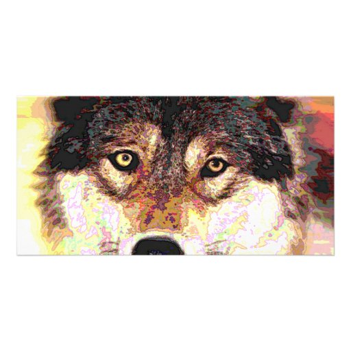 Wolf Picture Card