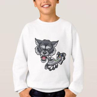 Wolf Player Gamer Mascot Sweatshirt