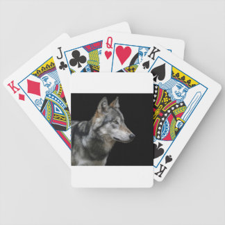 Wolf Portrait Black Background Predator Carnivore Bicycle Playing Cards