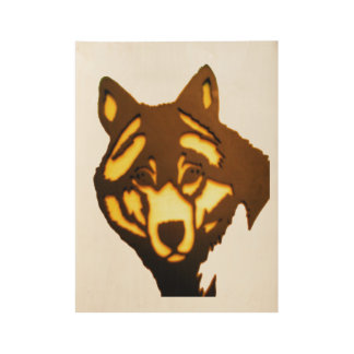 Wolf Poster Wood Poster