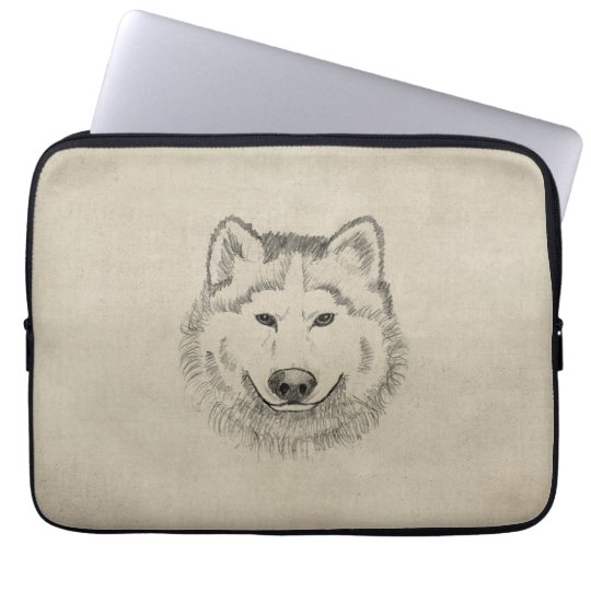Wolf Power Laptop Sleeve