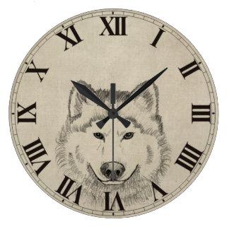 Wolf Power Wallclock