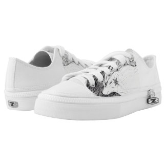 wolf printed shoes