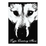 Wolf Pup Invitations Personalised Husky Wolf Card