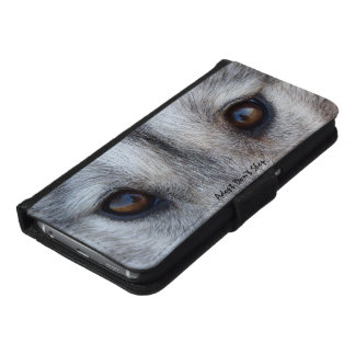 Wolf Pup Smartphone Wallet Husky Wolf Mobile Cases