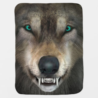 Wolf Receiving Blankets