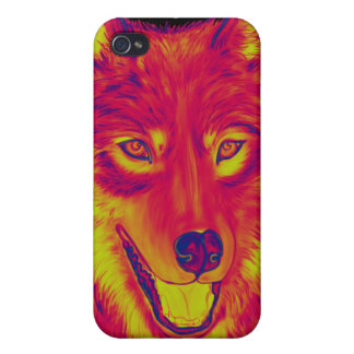 Wolf Red Fire Case For The iPhone 4