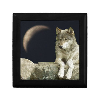 Wolf Relaxing Small Square Gift Box