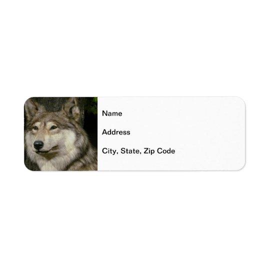 Wolf Return Address Label
