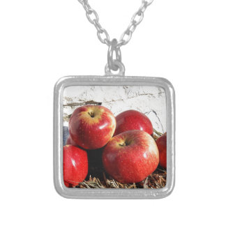 Wolf River Apples Silver Plated Necklace