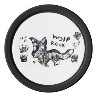 wolf rock poker chips