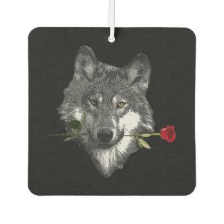 Wolf Rose Car Air Freshener