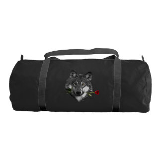 Wolf Rose Gym Bag