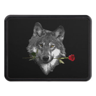 Wolf Rose Tow Hitch Cover