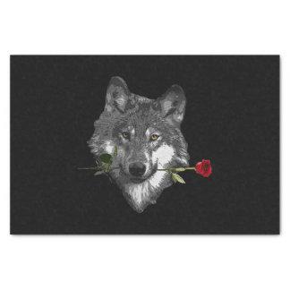 Wolf Rose Tissue Paper
